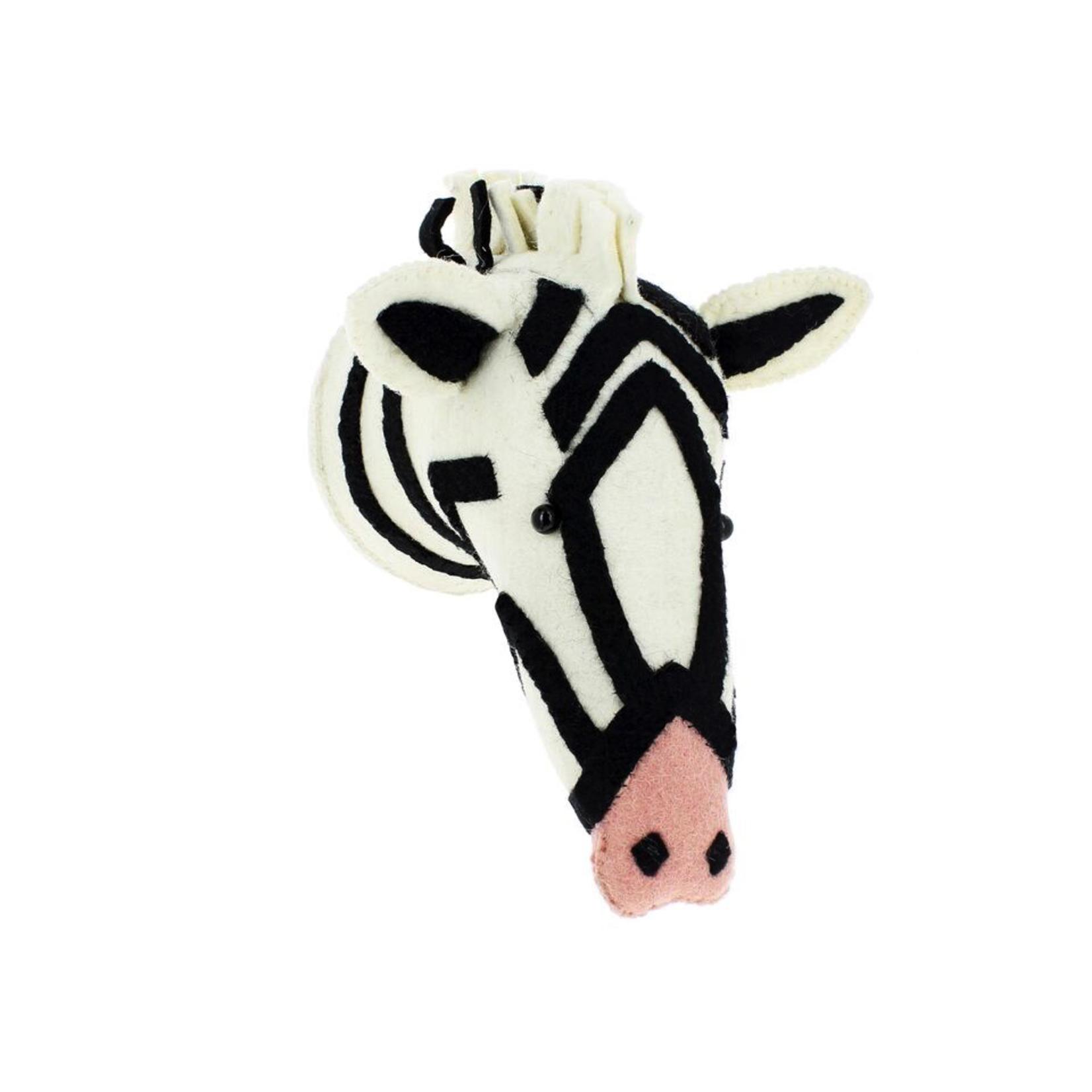 Fiona Walker Fiona Walker Semi Zebra Head With Pink Nose