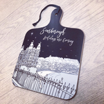 Homebird Mini CHRISTMAS Grand Scarborough Happy Holidays Chopping Board designed by Alex Anderson