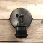 Homebird Knuckle Wall Light with 107mm back plate with One shade ring Choose Finish & if you need a cable grip to plug in the light