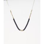 Mark Watson Gold Dark Grey Gloria Necklace