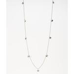 Mark Watson Silver Grey Liam long Necklace