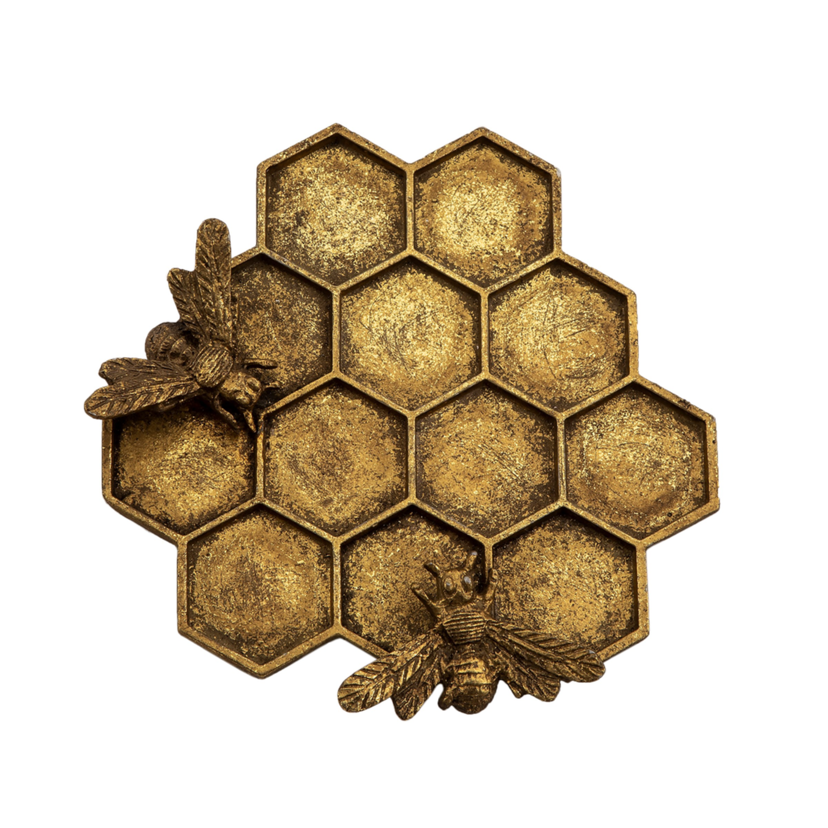 Sass and Belle Gold Honeycomb Bee Trinket Dish