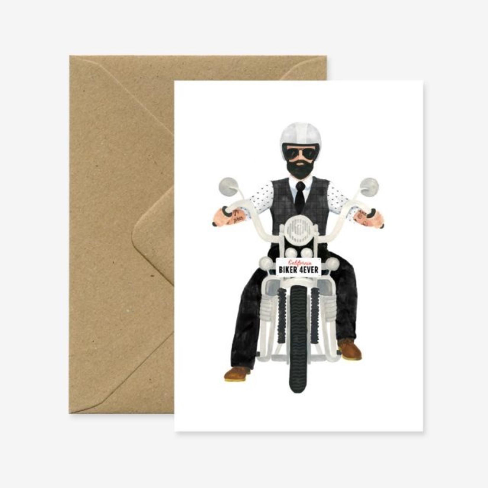 All The Ways To Say Biker Forever - Beardy Biker Boy Card