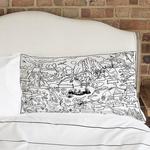 Eat Sleep Doodle The Doodle Colour in Dinosaur Pillowcase