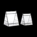 Nkuku Pasua Pyramid Terrarium - Antique Zinc - Small 25 X 20.5 X 20.5Cm