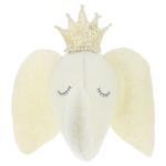 Fiona Walker Fiona Walker Sleepy Cream Elephant Head with Crown Original Large Size
