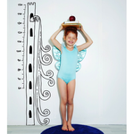 Chispum Growth Chart Princess Tower PINK 43.4x140cm