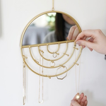 Lisa Angel Circle Wall Mirror and Jewellery Hanger