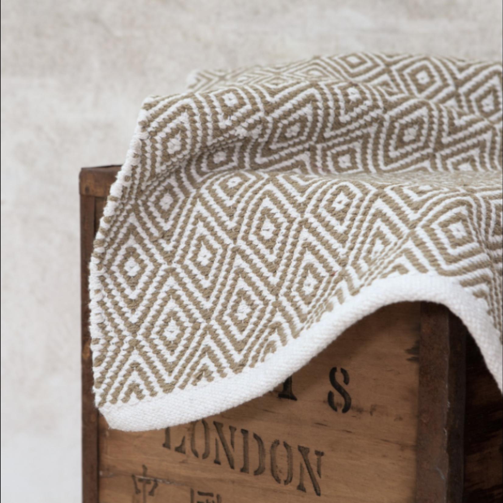 Forever England Forever England Chelwood Cotton Woven Sand  Runner 70x140cm