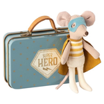 Maileg 15% OFF Maileg Superhero Mouse In Suitcase Tin - New In Maileg - minor blemishes to tin