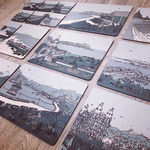 Homebird .Placemat Collection - Your Bespoke selection of Scarborough illustration Views Homebird House Tableware