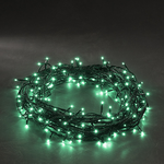 Konstsmide Jade/ Turquoise Micro LED Mains Operated Pin Fairy Lights with black wire