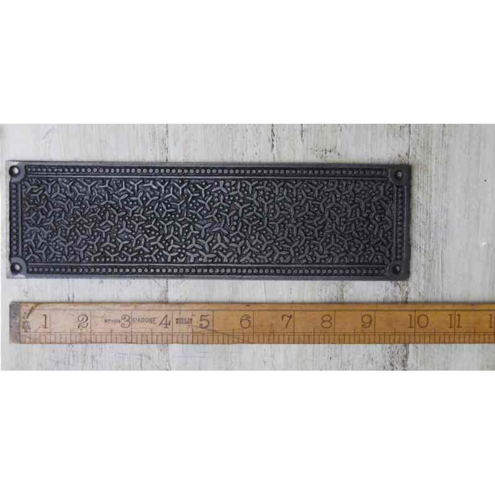 IRON RANGE Decorative Ornate Push Plate Iron