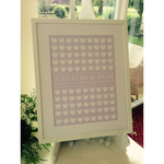Homebird Bespoke 100 Hearts Wedding Wishes Write on Heart with pens Bespoke Picture FRAME COLLECTION ONLY