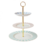BoDuck Stripy 3 Tier Cake Stand Pastels