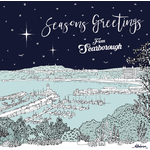 Homebird Cards ALEX ANDERSON 2020 CHRISTMAS CARD ILLUSTRATION SCARBOROUGH HARBOUR SEASONS GREETINGS