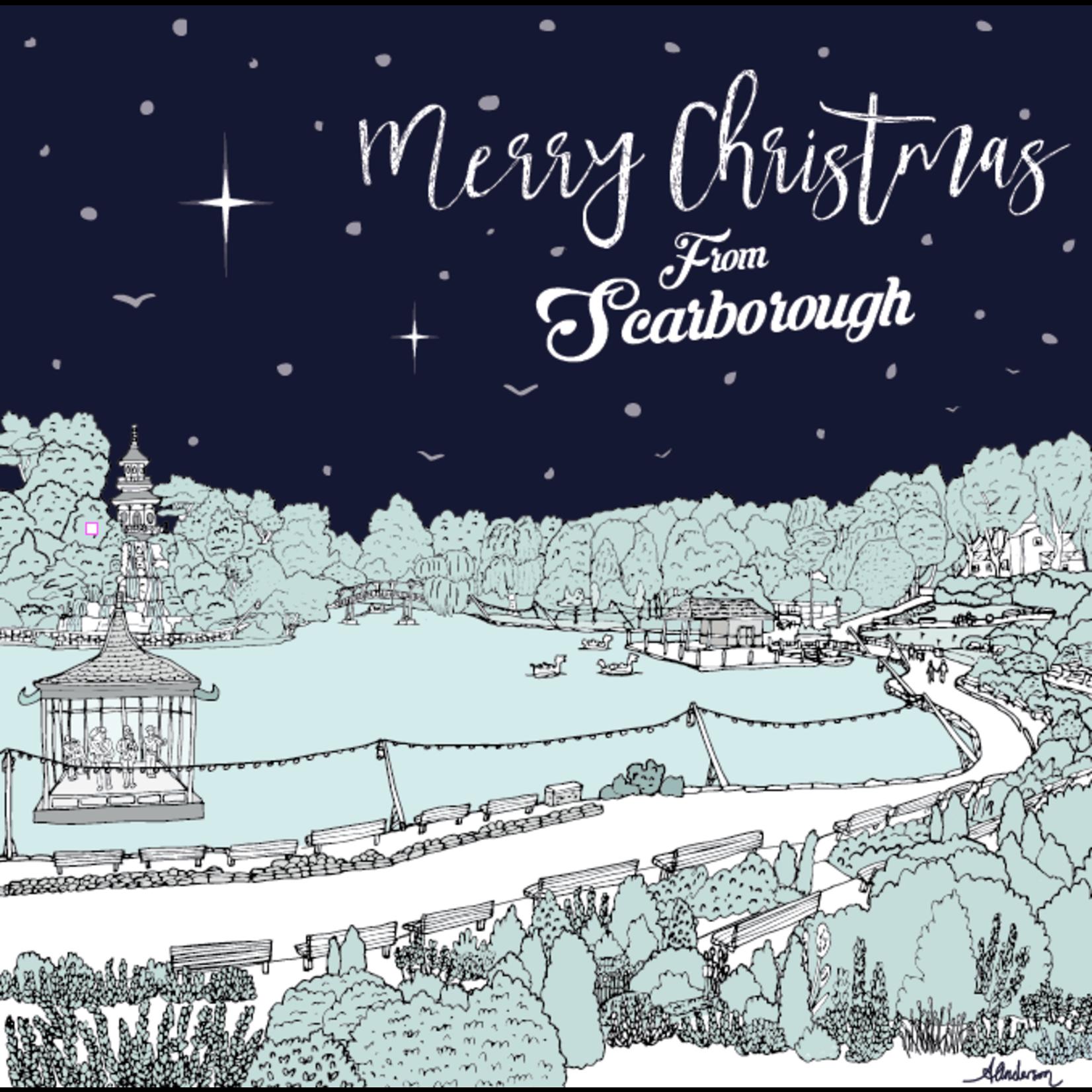 Homebird Cards ALEX ANDERSON 2020 CHRISTMAS CARD ILLUSTRATION SCARBOROUGH PEASHOLM MERRY CHRISTMAS