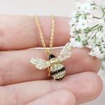 Lisa Angel Large Crystal Bumblebee Pendant Necklace