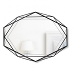 UMBRA PRISMA LARGE GEOMETRIC MIRROR BLACK