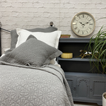 Forever England Stonewash Cotton Grey Cushion Cover