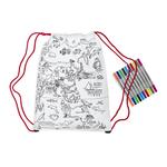 Eat Sleep Doodle The Doodle Drawstring Backpack World Map