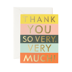 Rifle Rifle Color Block Thank You So Very Much Card