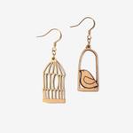 Materia Rica Materia Rica Golden Freedom Dove Earrings