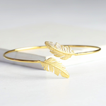 Lisa Angel Gold Feather Bangle