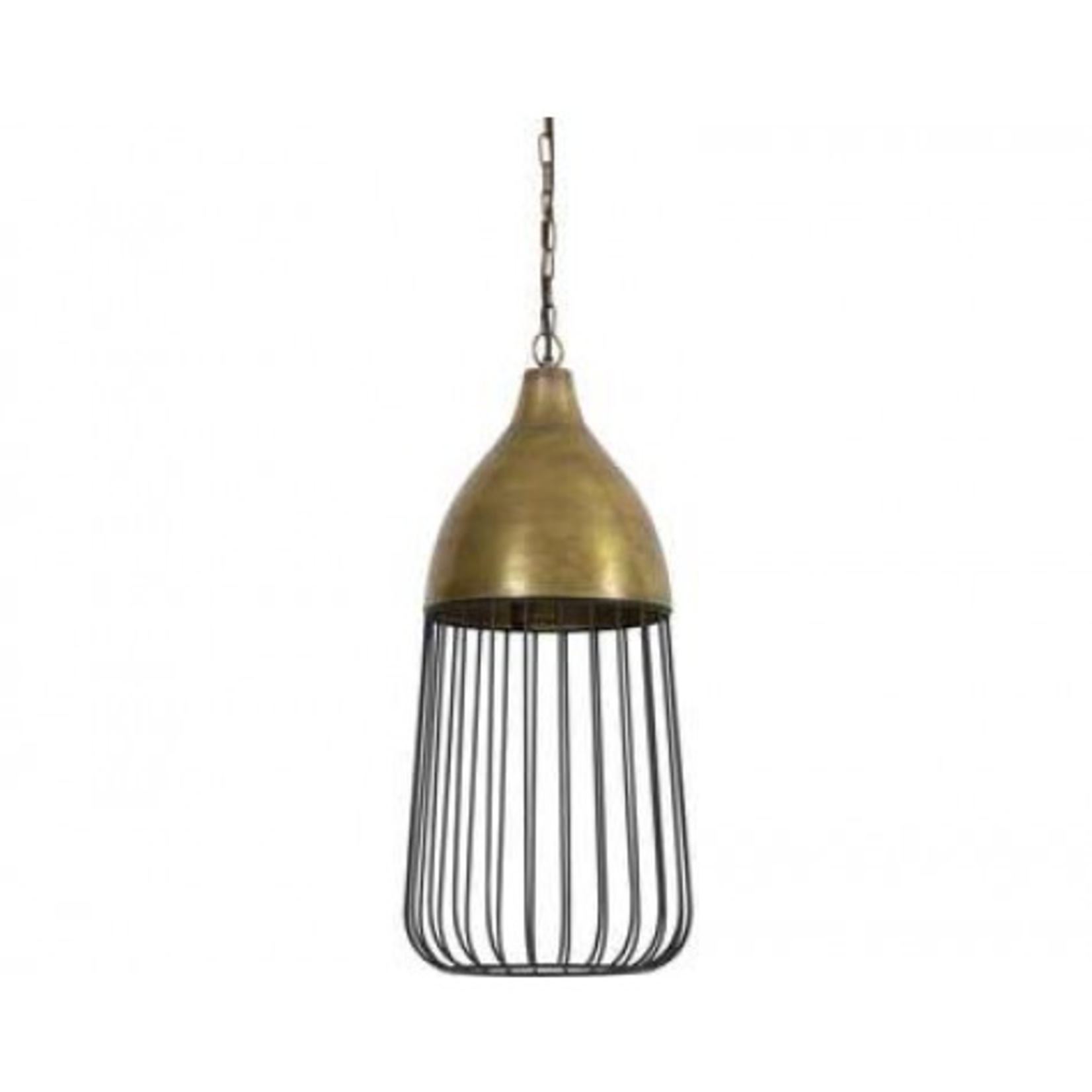 Light & Living DISCOUNTED Due to to minor flaws in Finish VIEW THIS IN THE DETAIL IMAGE. Undine antique bronze & black hanging lamp 28x59cm