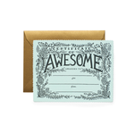 Rifle Rifle CERTIFICATE OF AWESOME card