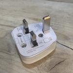Europas 13 Amp Fuse White Plug