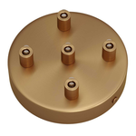 CCIT Brushed Bronze 120mm 5 Hole Ceiling Rose Kit With Cylindrical matching Cable Grip.