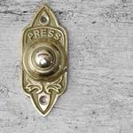 IRON RANGE Minster Door Bell Push Press Solid Brass