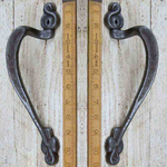 IRON RANGE Door Pull Handle Antique Iron Handed (Pair)