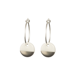 One & Eight Porcelain Disc Earrings - Silver Dipped on Silver Hoops