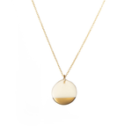 """One & Eight Porcelain Disc Necklace - Gold Dipped on Gold 16-18"""" Chain"""