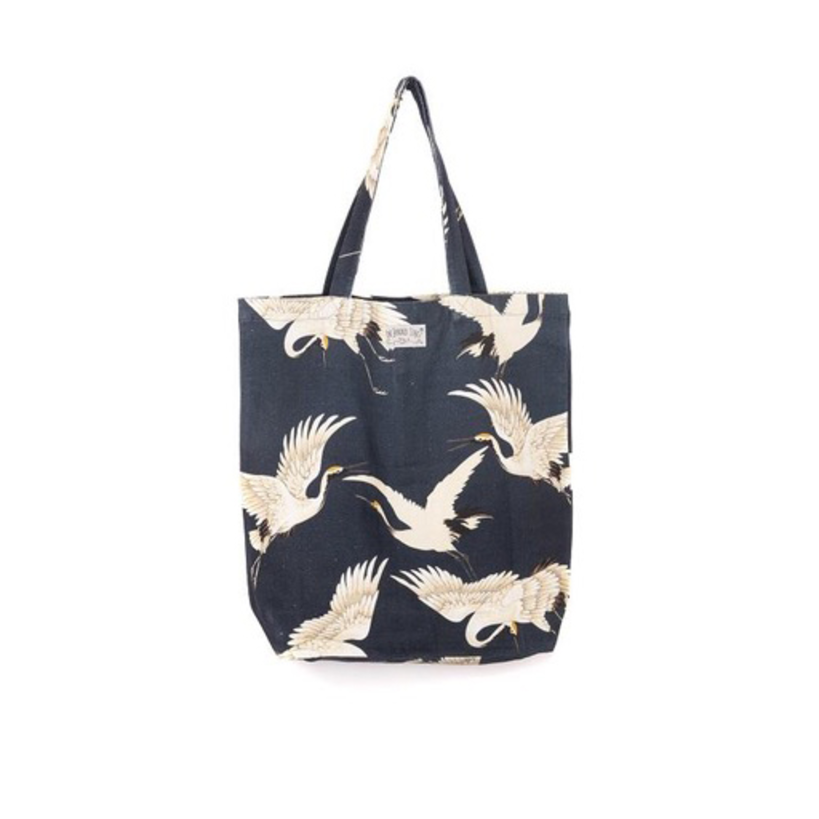 ONE HUNDRED STARS Canvas Bag Stork Charcoal