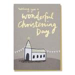 Good as Gold Wonderful Christening Day Church Card