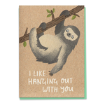 Stormy Knight Hanging Sloth Card