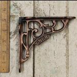 IRON RANGE GNER Shelf Bracket in Antique Copper Finish 130mm