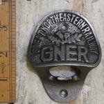IRON RANGE Bottle Opener Wall Fixing GNER Cast Antique Iron