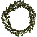 Grand Illusions Mistletoe White Berry Wreath d30cm/2