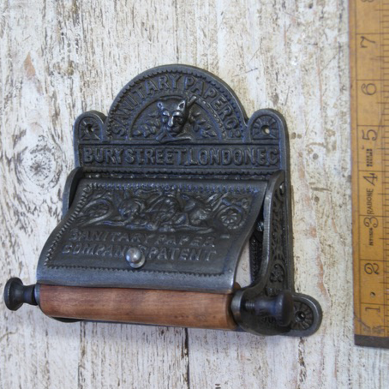 IRON RANGE Antique Iron BURY ST LONDON Toilet Roll Holder