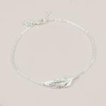Lisa Angel Silver feather bracelet