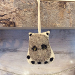 Fiona Walker Fiona Walker Mini Hanging Owl - White with Grey face