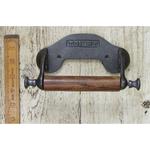 IRON RANGE Toilet Roll Holder with Sides 'TOILET' Antique Iron