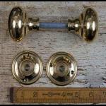 IRON RANGE Natural Brass Cottage Door Knob - 60mm