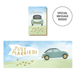 Stormy Knight Wedding Day Car - Expanding Card