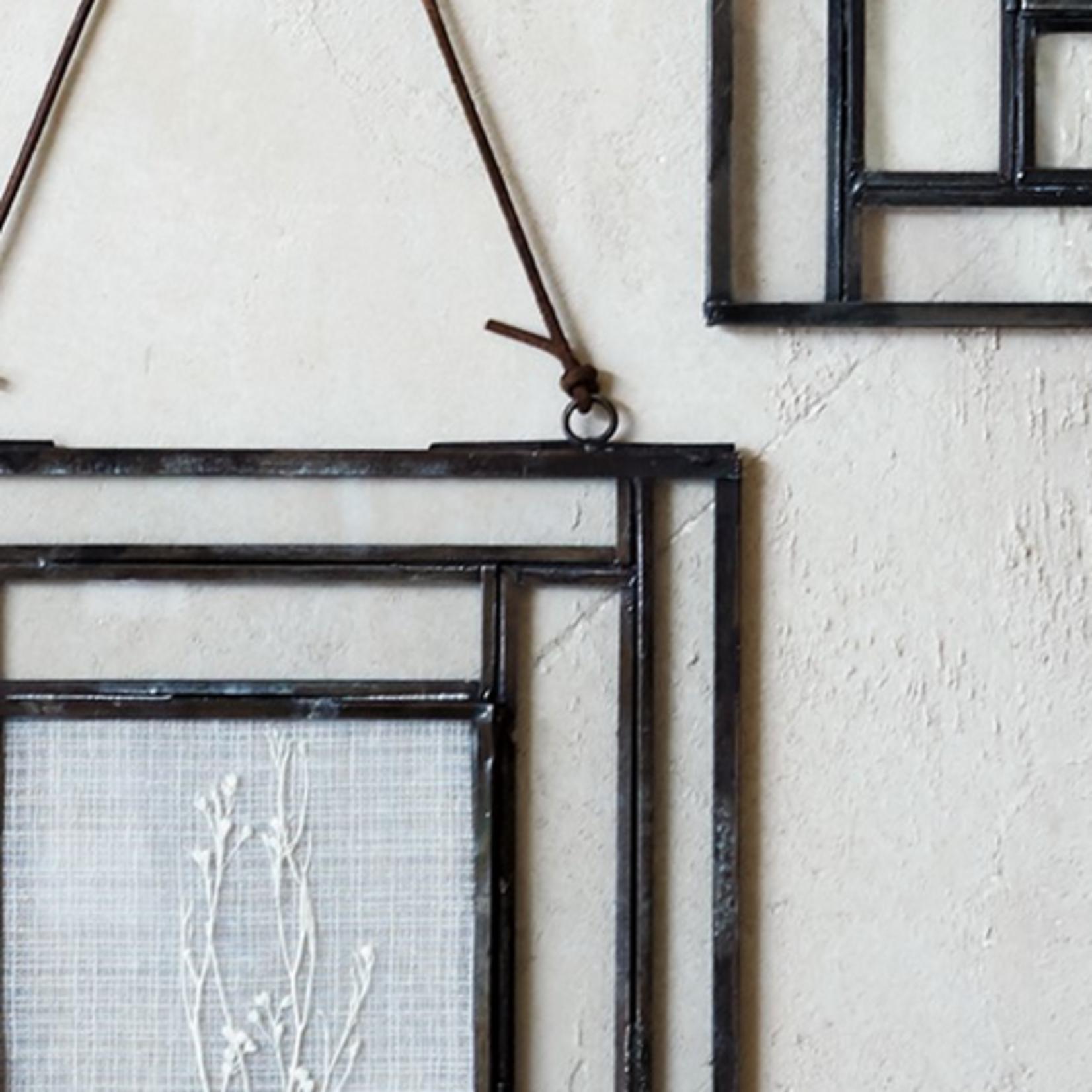 "Nk Dagana Wall Hung Glass Frame - Antique Black - Landscape 5 x 7"""