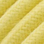 CCIT Per Metre - Round Pastel Soft Lemon Yellow 3 core electric Flex : Cable : 0.75cm Diameter